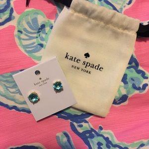 Kate Spade Turquoise & Gold Stud Earrings